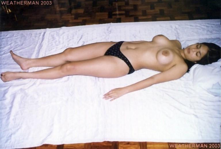 Sexy girl boob selfie