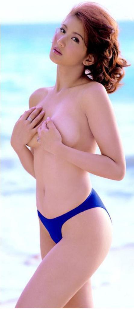 nude woman open legs