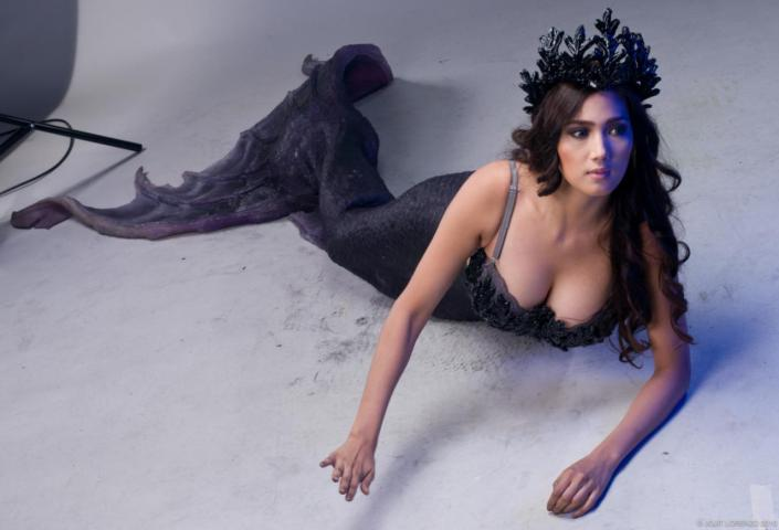 nina jose mermaid cleavage